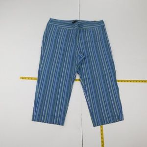 Lane Bryant 22 Blue Casual Capri Stretch D-1-93797